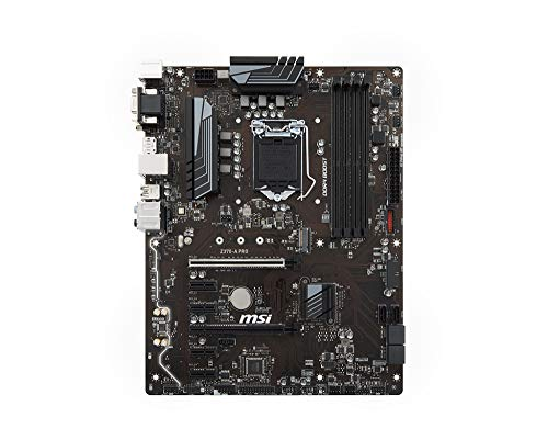 MSI Z370-A Pro - Placa Base Pro (chipset Intel Z370, Socket LGA 1151, 6 x SATA 6Gb/s, 2 x Turbo M.2, DDR4 Boost, Intel I219-V LAN, Military Class 5), ATX, Negro