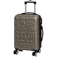 it luggage Destinations II - 8 Wheel Hard Shell Single Expander Suitcase with TSA Lock Maleta, 54 cm, 48 Liters, Dorado (Gold)