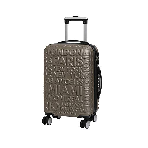 it luggage Destinations II - 8 Wheel Hard Shell Single Expander Suitcase with TSA Lock Maleta, 54 cm, 48 Liters, Dorado (Gold)