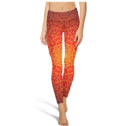 Young Women Yoga Pants Celtic Design Pattern Custom Elastic Gym Tights Yoga Tops Bra