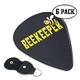 Bee Keeper ギターピック 6枚/セット ウクレレ エレキギター 3種厚さ プリントデザイン お洒落 スペシャル バリ無し 尖らず
