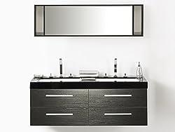 Meuble salle de bain noir - Amazon meuble de salle de bain ...