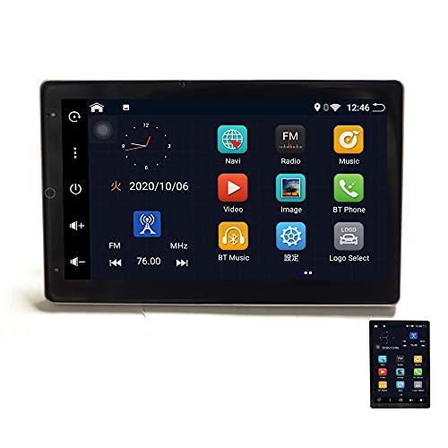 液晶縦表示 アンドロイド10 2DIN Android 10.1インチカーナビ+地デジ4x4フルセグチューナーセット+170度バックカメラセット ウェイクワード ナビコントロール ラジオ Bluetooth 32G HDD スマートフォン iPhone WiFi【一 2din 車用ナビ wowauto
