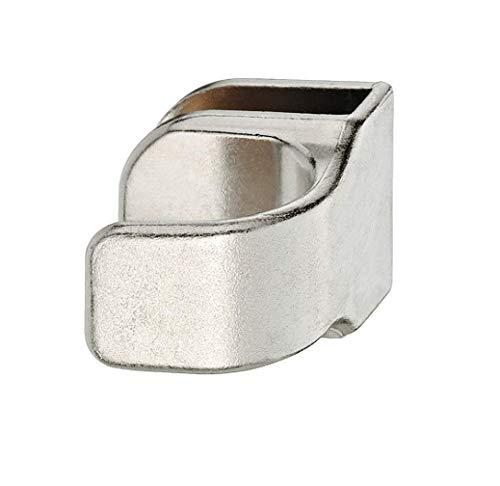 Gedotec Glastürgriff Möbelgriffe für Glastüren Türgriff zum Klemmen | Glasdicke 4-6 mm | vernickelt matt | Spiegel-Türgriff für Schranktüren & Glastüren | 1 Stück - Design Ziehgriff für Vitrinen