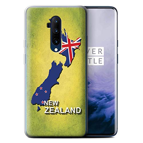 eSwish Gel TPU telefoonhoesje/hoes voor OnePlus 7T Pro/New Zeeland Design/Vlag Nations Collection