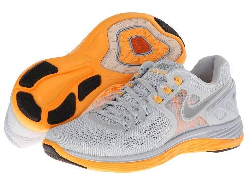 Nike Women's Lunar Eclipse 4 Running Shoe (11 B(M) US, Pure Platininum/Atomic Mango/Reflective Silver)