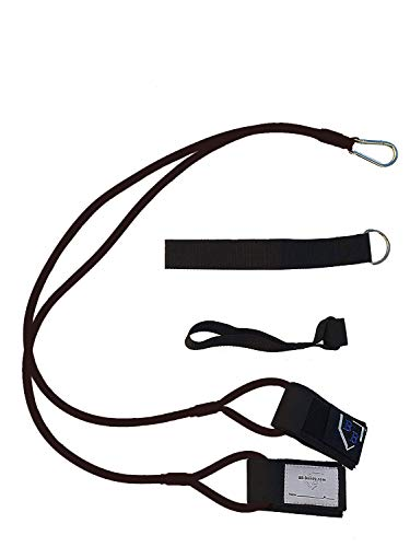 BB-Bands Sports Exercise Baseball/Softball Training Aid Pitching Arm Strength Quarterback Warmup Stretching Resistance Bands j (Black, Adult)