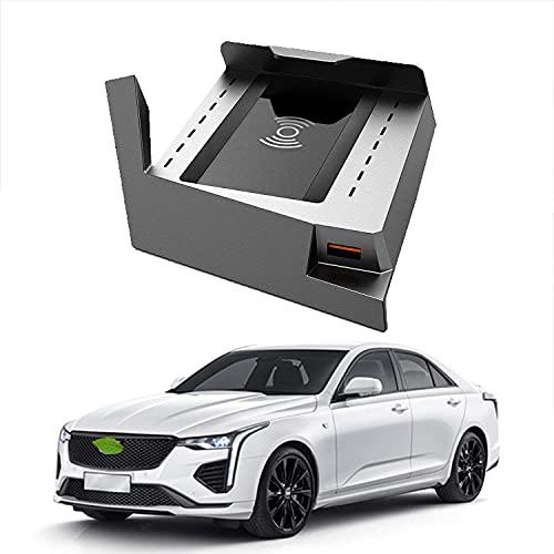 WYXC Cargador inalámbrico para teléfono para automóvil, Cargador inalámbrico estándar Qi de 15 W de Carga rápida para CT4 2018 Cargador para Soporte de teléfono automático para iPhone 12/11 / XS/XR/X