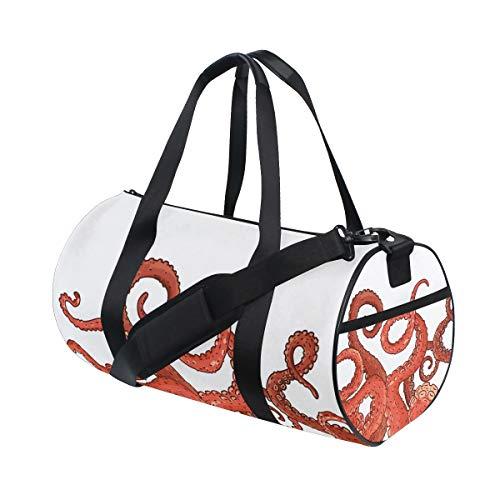 Ahomy - Bolsa de deporte para gimnasio, diseño de calamar y calamares marinos, ligera, de viaje, bolsa de fin de semana