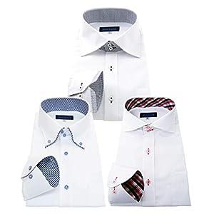 men's uno(メンズウーノ) 長袖ワイシャツ3枚セット 形態安定 ノーアイロン uc 666-4L