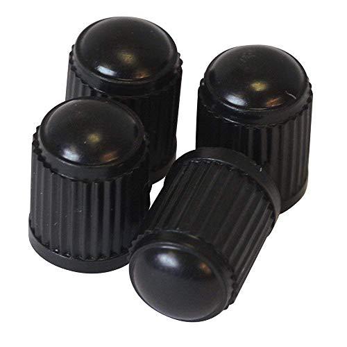 Bicicleta válvula tapa, Cilindro de tapones de válvula polvo sombrero de diámetro exterior 10mm–Un Juego de 4de color negro–Cilíndrico