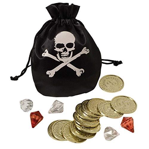 Amscan 840852-55 - Piratenset, Münzen und Beutel, Kostümzubehör, Spielset