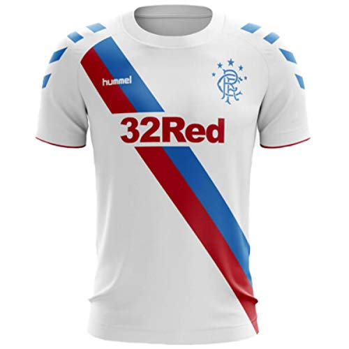 Hummel Sport Glasgow Rangers Away Trikot 2018-2019, Unisex-Erwachsene, Glasgow Rangers Away Jersey 2018-2019, weiß, Small