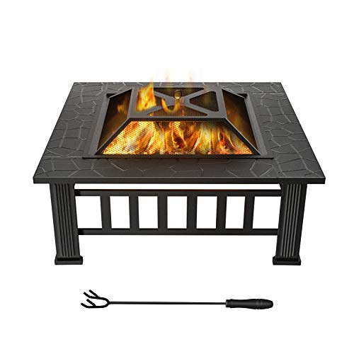 WINWEND Fire Pit Outdoor Wood Burning, 32in...