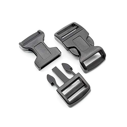 HeavyTool Buckle 20 mm Black Curved Type F POM Acetal (Pack of 10)