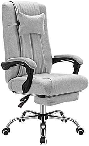 Silla de escritorio Silla de oficina silla de ordenador ordenador con reposapiés desmontable cómodo reposacabezas reclinable respaldo alto la capacidad de carga 330 Lbs grises sillas de escritorio