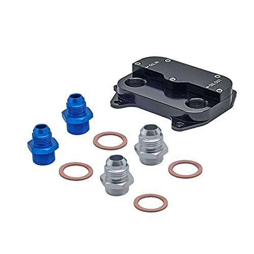 MINGYUYUYY El refrigerador de Aceite de sándwich de Aceite automático quitarse el Ajuste de la Placa para Audi VW Ajuste para Skoda Seat 1.6TDI y 2.0TDI (Color : SW-FMOC2-BK)