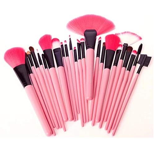Outils de Maquillage Brosse de Maquillage Lhx24 PCS de chèvre Cheveux Roses poignée Pinceau de Maquillage Set avec Pink Pouch