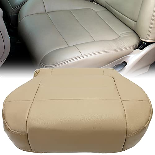 KUAFU New Tan Driver Side Bottom Seat Cover Leather Compatible with 2001 2002...