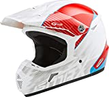 GMAX MX-46 Colfax Adult Off-Road Motorcycle Helmet - White/Red/Blue/Medium