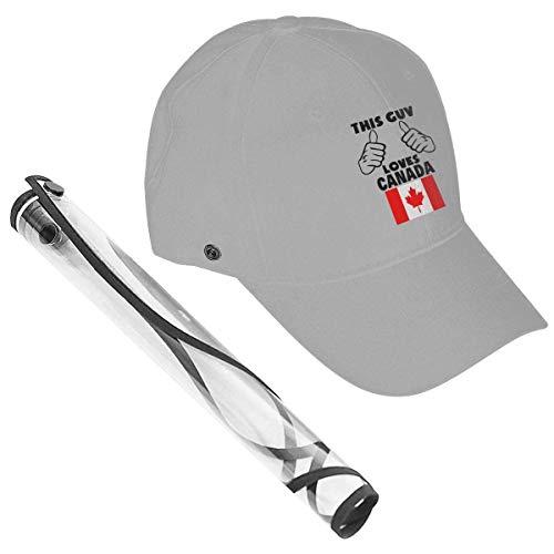 Este Tipo ama la Gorra de béisbol con Gorra de béisbol de Canadá con Cubierta Protectora Polvo Viento Protección Solar Negro