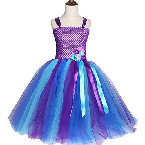 QWER Halloween Rok Royal Blauw Kinderen Meisjes Tutu Jurk Knie-lengte Tule Prinses Verjaardag Feestjurk Meisjes Kostuums