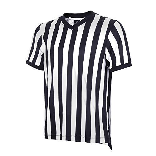 allentian Men's Referee Shirt - Official Black & White Stripe...