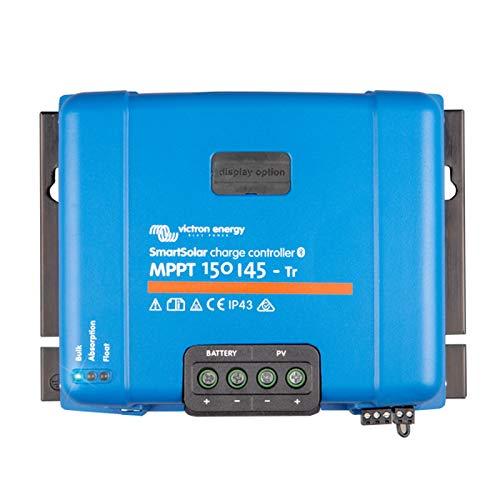 Victron SmartSolar MPPT 150/45 45A Controlador de carga solar para paneles solares de hasta 650W (12V) / 1300W (24V) / 1950W (36V) / 2600W (48V) y hasta 150V. Con Bluetooth integrado.