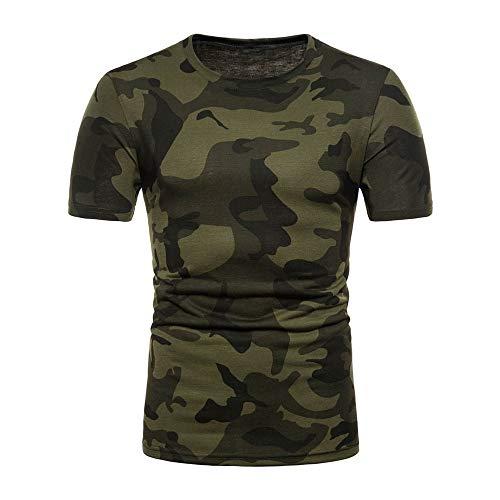 huichang T-Shirt à Manches Courtes Imprimé Camouflage, Tee Shirt Homme Mode Personnalité Sport T-Shirt Camouflage Casual Chemise à Manches Courtes Top Blouse