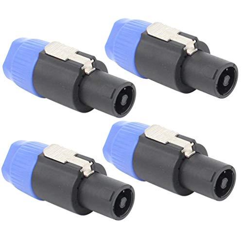 HEALLILY Enchufe de Altavoz de Audio de 4 Piezas Enchufe de Altavoz de 4 Polos Conector de Amplificador de Cable Enchufe de Altavoz de Audio Twist Lock