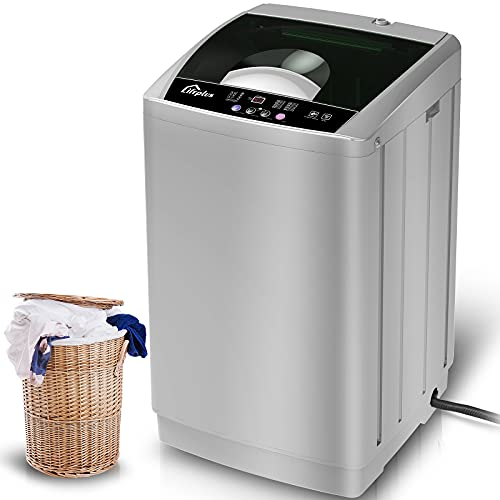Washing Machine, 1.8 Cu ft Compact Washer Machine With 8 Wash Programs & Child Lock, Full-Automatic Laundry Machine, Ideal For Dormitory Apartment Living Room, Gray