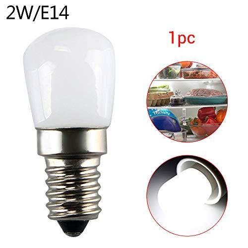 220V 2W E14 Mini Kühlschrank Gefrierschrank Licht Gerät Lampe Schraube Birne White1pc