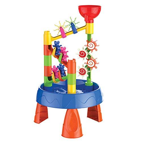 Yooyg Juego de mesa de arena de verano para niños, juego de mesa de arena y agua de verano, mesa de agua de mesa de agua para niños juegan mesa de arena y agua juguetes de playa