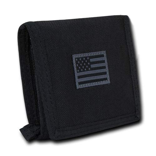 USA US American Flag Tactical Patriotic Military Trifold Wallet Money Holder (Black)