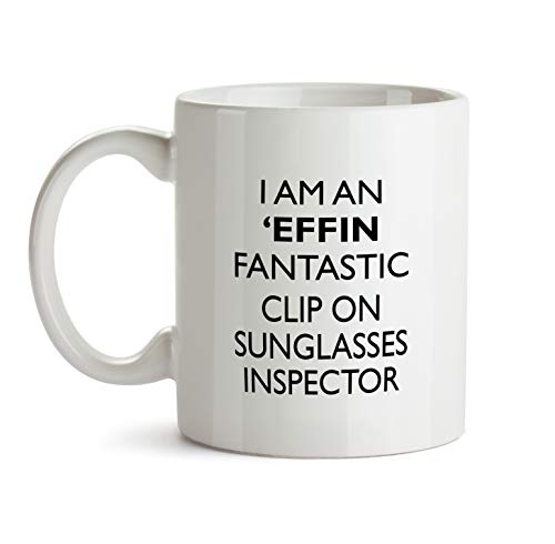 Clip On Sunglasses Inspector Gift Mug - Effin Profession Best Ever Coffee Cup Colleague Co-Worker Thank You Appreciation Friend Recognition Present