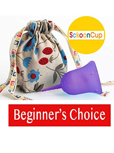 SckoonCup Beginner Choice Menstrual Cup - Made in USA - FDA Registered - Organic Cotton Pouch -...