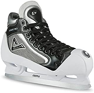 Botas - Goalie PRO - Men's Ice Hockey Skates | Made in Europe (Czech Republic) | Color: Black with White