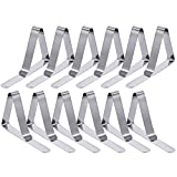 T-Antrix Tablecloth Clips 12 Packs Picnic Table Clips Flexible Stainless Steel Table Cloth Cover Clamps Table Cloth Holders Ideal for Picnics Marquees Weddings Graduation Party