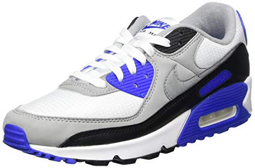 Nike CD0881, Zapatillas para Correr Hombre, White Particle Grey Hyper Royal Black Lt Smoke Grey, 44 EU