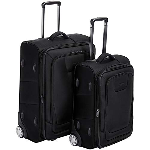 AMAZONBASICS Upright Expandable Softside Suitcases