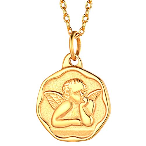 FaithHeart Rafael Ángel Arcángel Medalla Religiosa Redondo Acero Ino