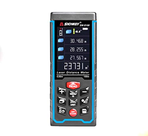 HYLH Telémetro láser Digital Pantalla a Color, Herramienta de medición inalámbrica con conexión USB 100M, 70M, 50M Medidor de Distancia láser Range Range,S100