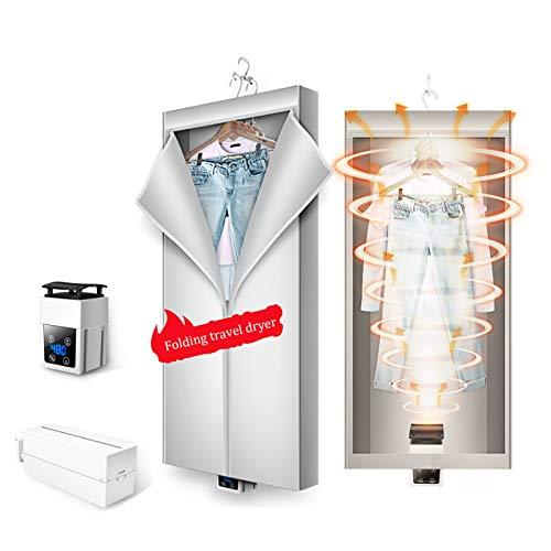 Asciuga Biancheria eletrico, Asciugatrice elettrica Pieghevole 520 W Grande capacità 15 kg Lavanderia umida per Interni ad Alta efficienza energetica Armadio per Asciugatura ad Aria Calda