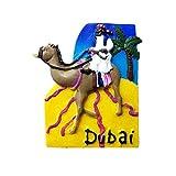 Imán para nevera de estilo desierto de Dubái, ideal como regalo de viaje, decoración para el hogar y la cocina, de poliresina