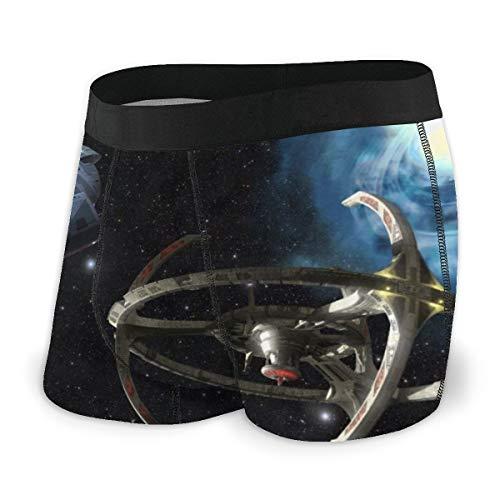 Star Trek Herren Boxershorts, bequeme Polyesterfaser, bedruckt Gr. L, Schwarz