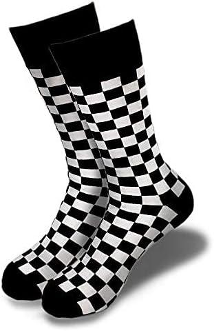 Quality inspection Men's Novelty Checker Crew Socks Sizes Stylish - 6-12 Max 67% OFF Fi