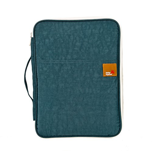 Isuperb® documenti A4 File Messenger-Borsa multifunzione-Organizer per borsa da viaggio per Apple iPad da ufficio (blu scuro)