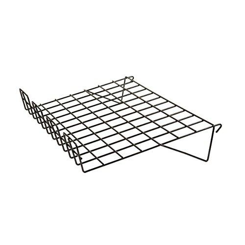 Econoco BLK/SL22 Sloping Shelf with 3' Lip, 14' Depth x 22-1/2' Length, Black (Pack of 6)