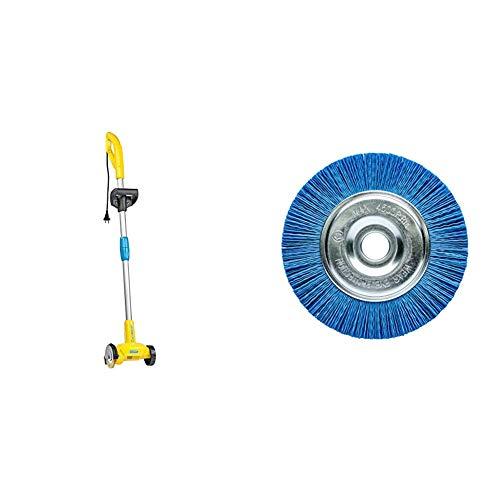 GLORIA WeedBrush | Elektrischer Fugenkratzer | Unkrautbürste | Zwischen Terrassenplatten reinigen | Inkl. Stahldraht-Fugenbürste & Nylon-Fugenbürste