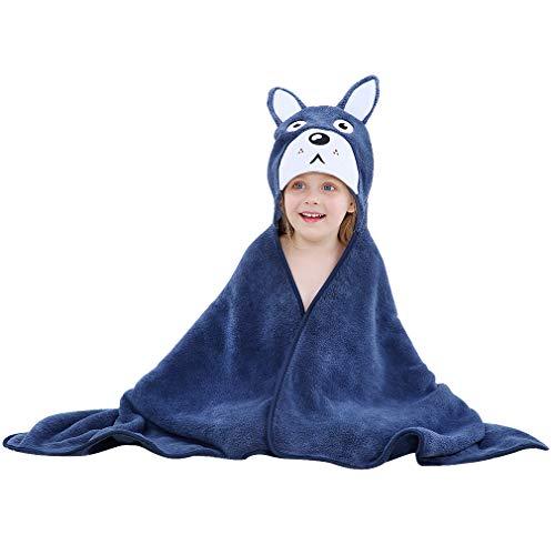 MICHLEY BéBéServiette à Capuche animaux Mignon Coton Sortie de bain Enfant Peignoir Cape de Bain, 115 * 70cm, 0-6 Jahre alt